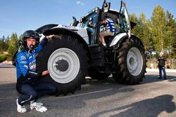 Eric Camilli, M-Sport Ford Fiesta WRC with a competition tractor