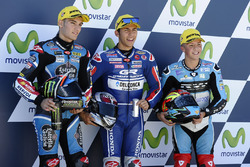 Polesitter Enea Bastianini, Gresini Racing, second place Jorge Navarro, Estrella Galicia 0,0, third