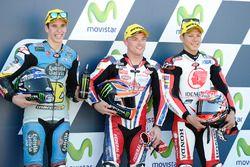 Polesitter Sam Lowes, Federal Oil Gresini Moto2, second place Alex Marquez, Marc VDS, third place Ta