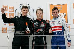 Podium: second place Stephen Daly, winner Scott Andrews, third place Kyle Kirkwood