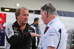 Robert Fernley, Sahara Force India F1 Team Deputy Team Principal with Mike O'Driscoll, Williams Group CEO