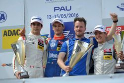 Podium, Lance Stroll, Prema Powerteam Dallara F312 – Mercedes-Benz, Alessio Lorandi, Carlin Dallara