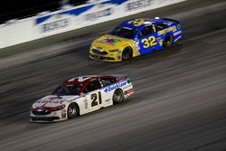 Ryan Blaney, Wood Brothers Racing Ford, Jeffrey Earnhardt, Go Green Racing Ford