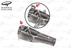 Ferrari F2005 cockpit structure and airbox design