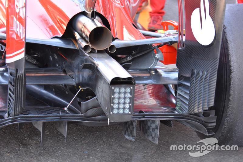 Ferrari SF16-H, dettaglio del posteriore