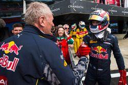 Helmut Marko félicite Pierre Gasly, Prema Racing