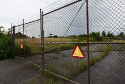 Gate 2 entrance to the abandoned Nazareth Speedway