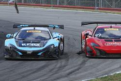 #6 K-Pax Racing McLaren 650S GT3: Austin Cindric, #99 Gainsco/Bob Stallings Racing McLaren 650S GT3: