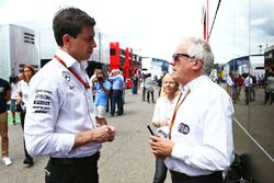 Toto Wolff, Mercedes AMG F1 Shareholder and Executive Director with Charlie Whiting, FIA Delegate