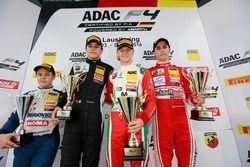 Podium: Bester Rookie Felipe Drugovich, Neuhauser Racing ; 2. Kami Laliberté, Van Amersfoort Racing; 1. Mick Schumacher, Prema Powerteam; 3. Thomas Preining, Lechner Racing