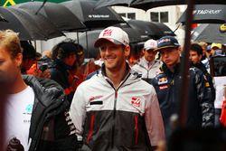 Romain Grosjean, Haas F1 Team lors de la parade des pilotes
