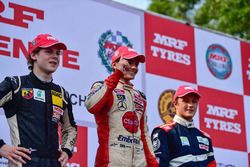 Podium: winner Pietro Fittipaldi, second place Harrison Newey, third place Nikita Troitskiy