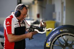 Porsche Team technician at work