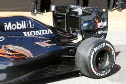 Fernando Alonso, McLaren MP4-31, Heckflügel und Unterboden