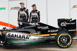 Nico Hulkenberg, Sahara Force India F1 und Sergio Perez, Sahara Force India F1