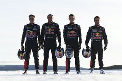 Sébastien Loeb, Kevin Hansen, Timmy Hansen en Davy Jeanney