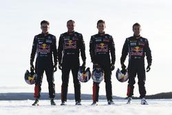 Sebastien Loeb, Kevin Hansen, Timmy Hansen y Davy Jeanney