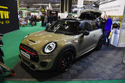 A BMW Mini on display