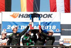 Podium: Race winner #2 Black Falcon Mercedes-AMG GT3: Abdulaziz Al Faisal, Hubert Haupt, Yelmer Buurman, Gabriele Piana