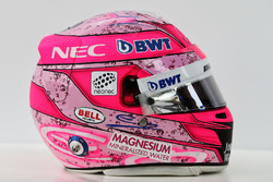 The helmet of Esteban Ocon, Sahara Force India F1 Team