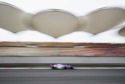 Esteban Ocon, Force India VJM11., with Flow-Viz paint applied
