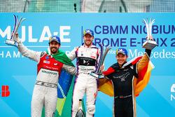 Sam Bird, DS Virgin Racing, wins the Rome ePrix, with Lucas di Grassi, Audi Sport ABT Schaeffler, in