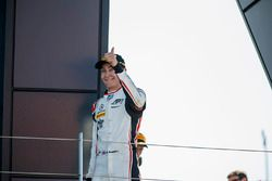 Podio: il secondo classificato George Russell, ART Grand Prix