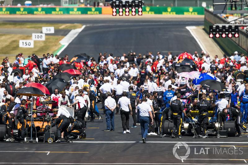 La griglia di partenza pre gara