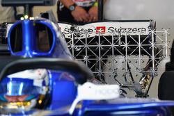 Marcus Ericsson, Sauber C36 and aero sensors on rear wing
