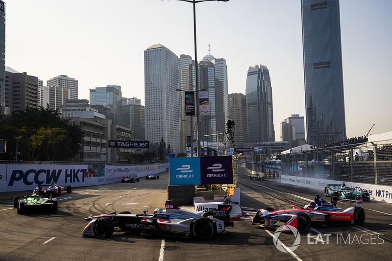 Maro Engel, Venturi Formula E Team, Nick Heidfeld, Mahindra Racing