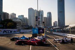 Sébastien Buemi, Renault e.Dams devant Jerome D'Ambrosio, Dragon Racing et Neel Jani, Dragon Racing