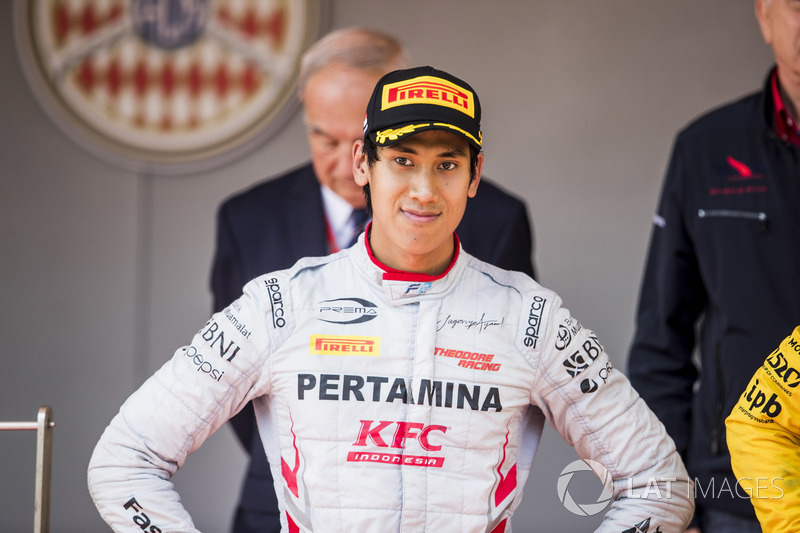Podium: Sean Gelael, PREMA Racing
