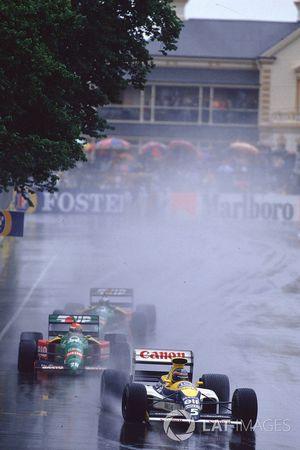Thierry Boutsen, Williams FW13 Renault, Emanuele Pirro, Benetton B189 Ford, Alessandro Nannini, Bene