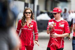 Stefania Bocchi, encargada de prensa de Ferrari y Kimi Raikkonen, Ferrari