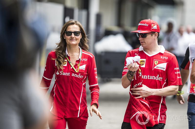 Stefania Bocchi, Ferrari Press Officer and Kimi Raikkonen, Ferrari
