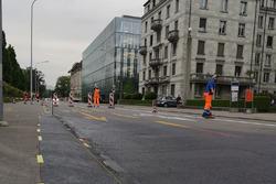 Lavori di costruzione della pista a Zurigo