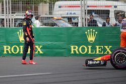 Race retiree Max Verstappen, Red Bull Racing walks away