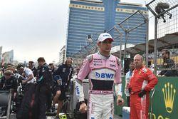 Esteban Ocon, Force India F1, sur la grille