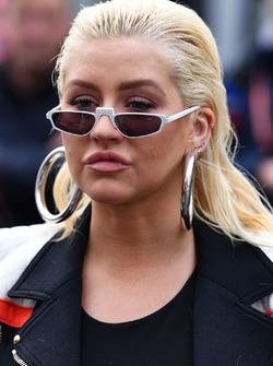 Christina Aguilera sur la grille de départ