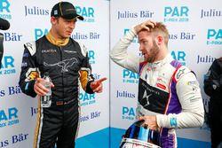 Andre Lotterer, Techeetah, talks to Sam Bird, DS Virgin Racing, con los medios