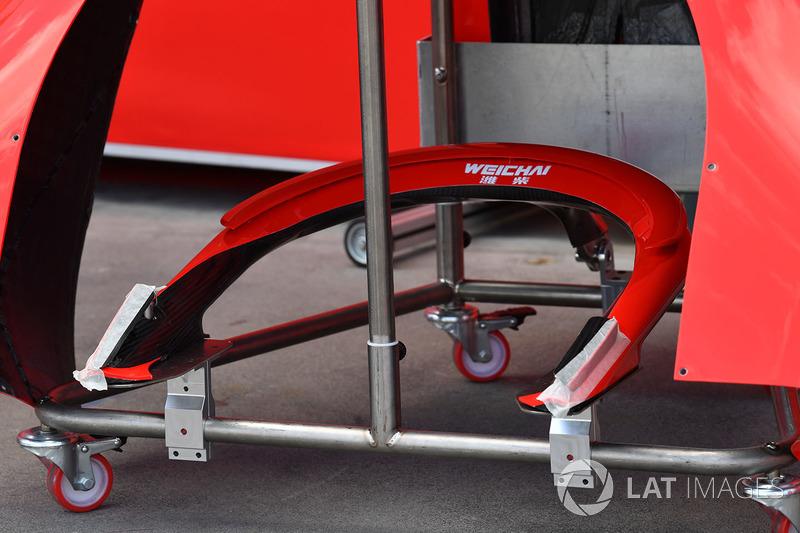 Detalle del Halo de Ferrari SF71H