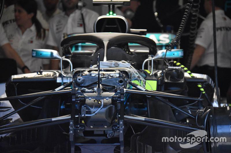 Передня частина Mercedes-AMG F1 W09