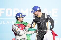 Lucas di Grassi, Audi Sport ABT Schaeffler, Jean-Eric Vergne, Techeetah, celebrate on the podium