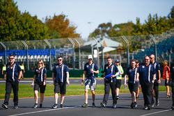 Track walk with Esteban Ocon, Force India