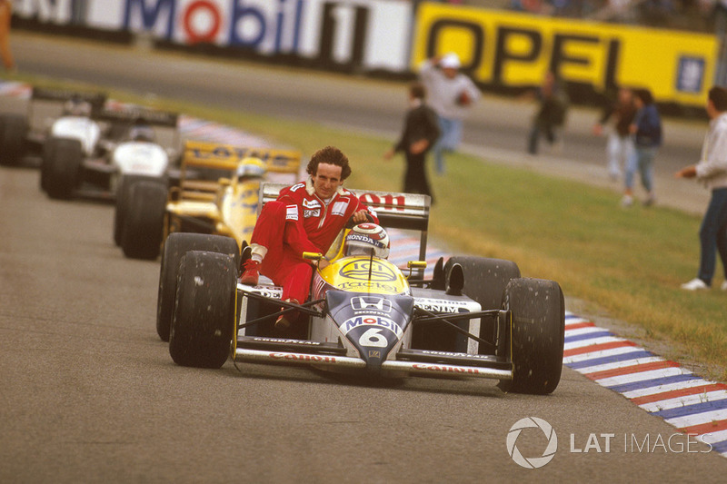 Hockenheim 1987 : Nelson Piquet (Williams) - Alain Prost (McLaren)