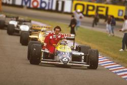Nelson Piquet, Williams FW11B Honda y Alain Prost, McLaren TAG Porsche