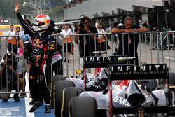 Sebastian Vettel, Red Bull Racing celebra su pole