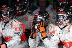 Des mécaniciens McLaren
