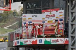 Podium Trofeo Pirelli: Race winner #8 Octane 126 Ferrari 488: Fabio Leimer, second place #1 Octane 1