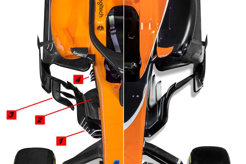 Детали центральной части McLaren MCL33